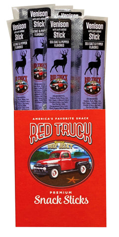 Salt & Pepper Venison Gourmet Meat Sticks Red Truck Jerky