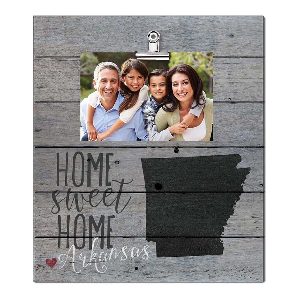 Home Sweet Home Arkansas Weathered Clip Photo Frame