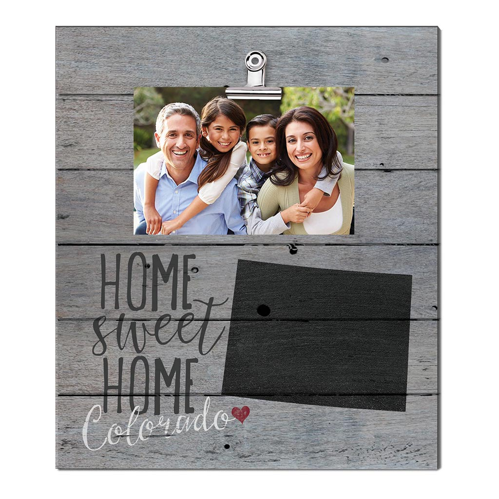 Home Sweet Home Colorado Weathered Clip Photo Frame