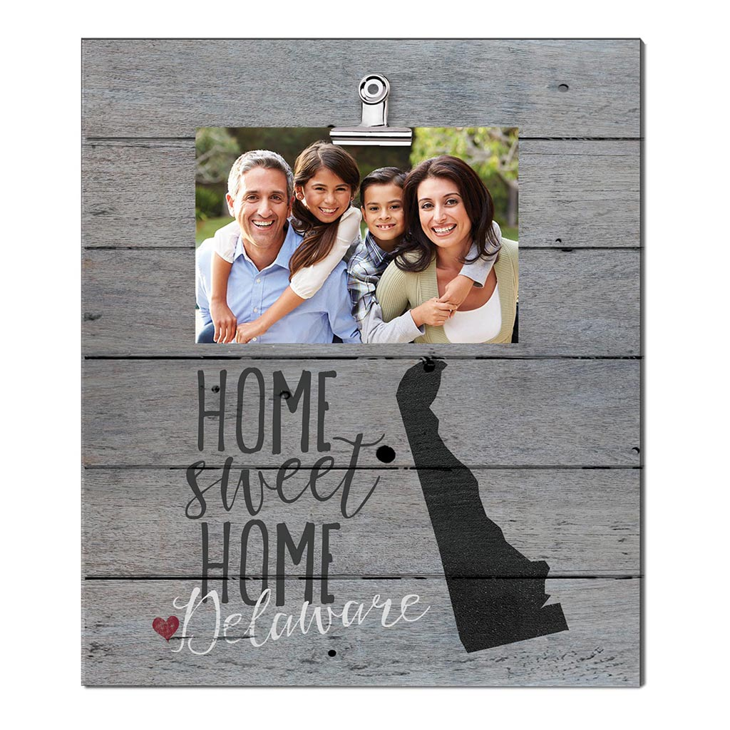 Home Sweet Home Delaware Weathered Clip Photo Frame