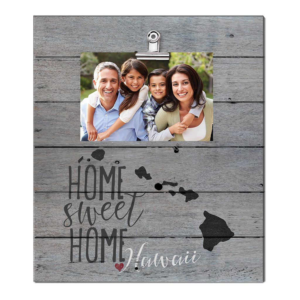 Home Sweet Home Hawaii Weathered Clip Photo Frame