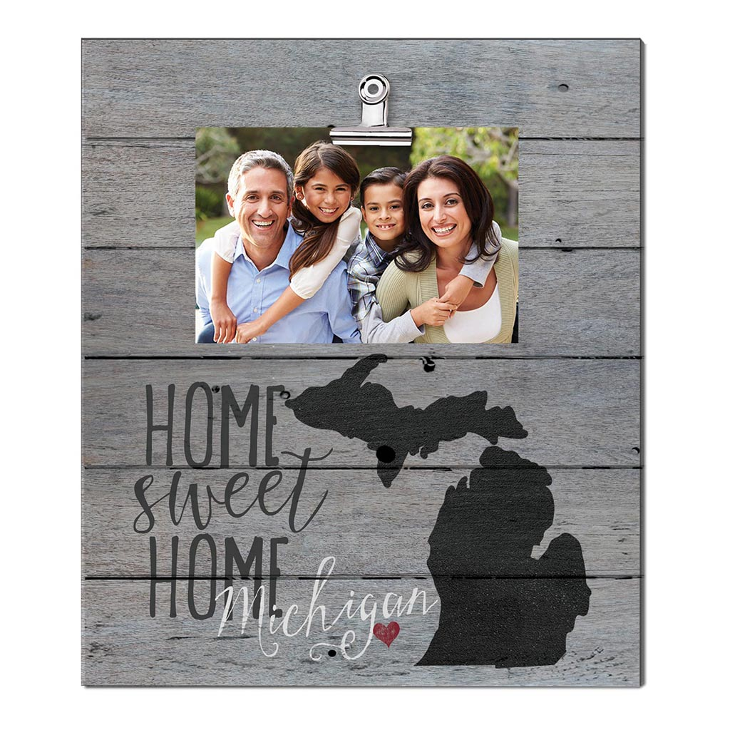Home Sweet Home Michigan Weathered Clip Photo Frame