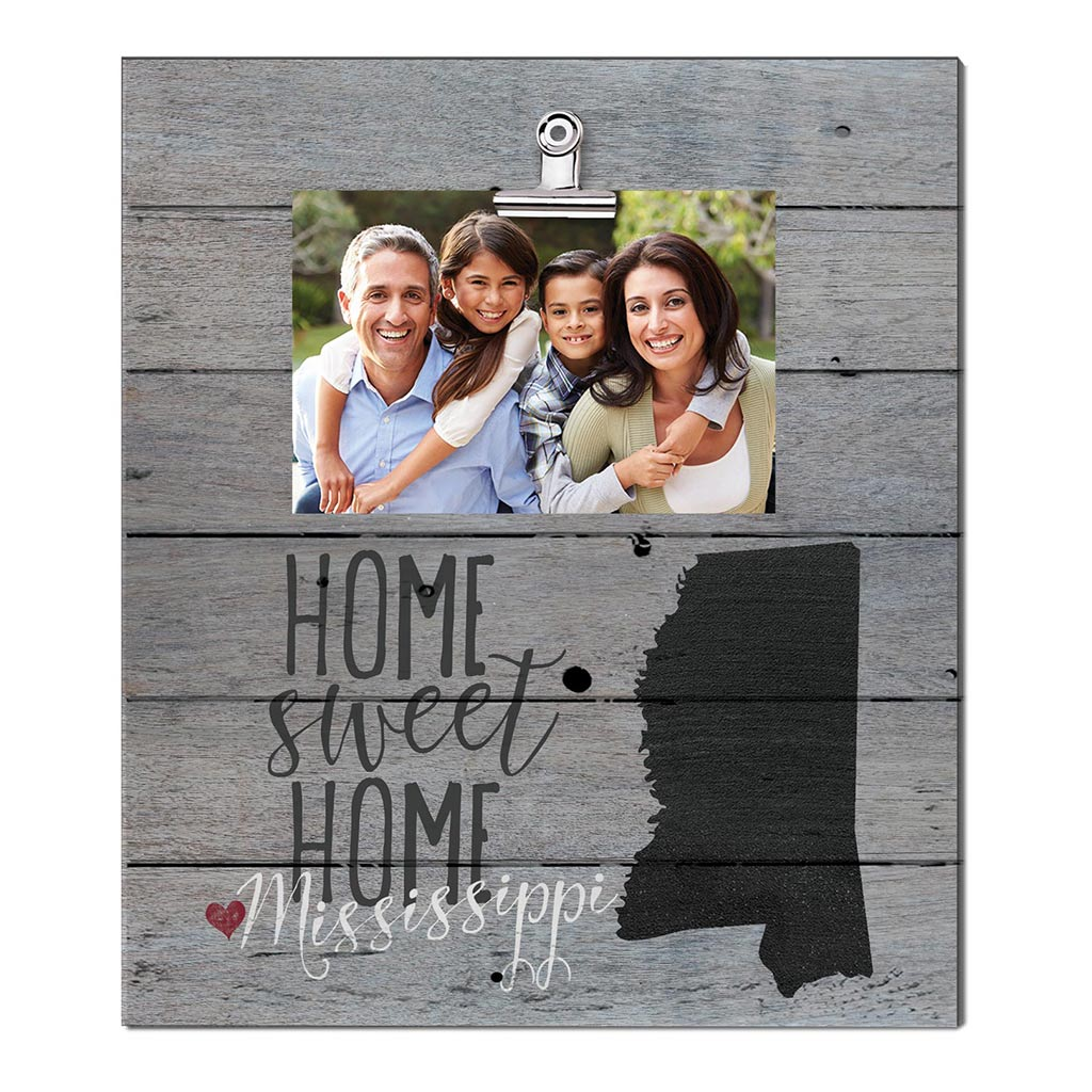 Home Sweet Home Mississippi Weathered Clip Photo Frame