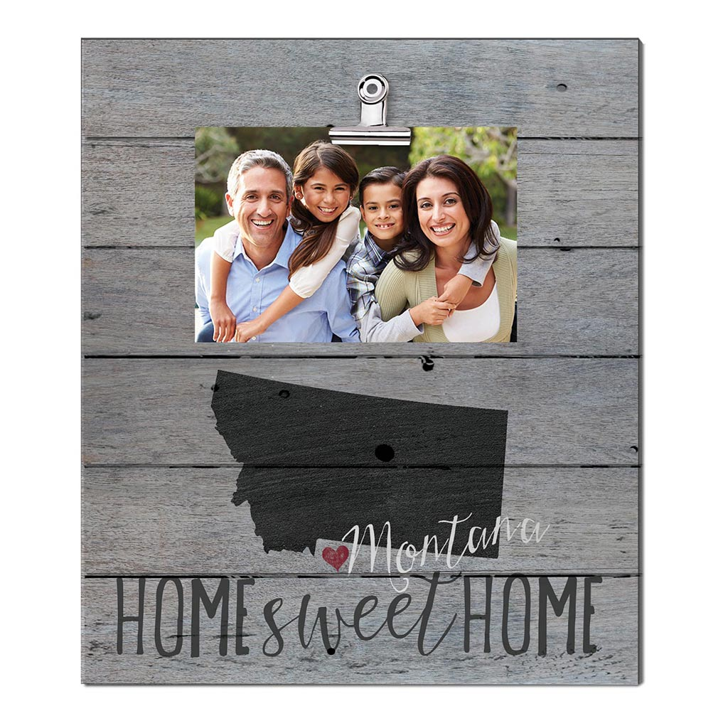 Home Sweet Home Montana Weathered Clip Photo Frame