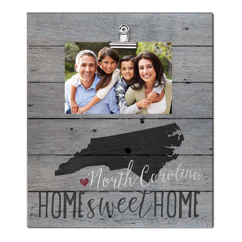 Home Sweet Home North Carolina Weathered Clip Photo Frame