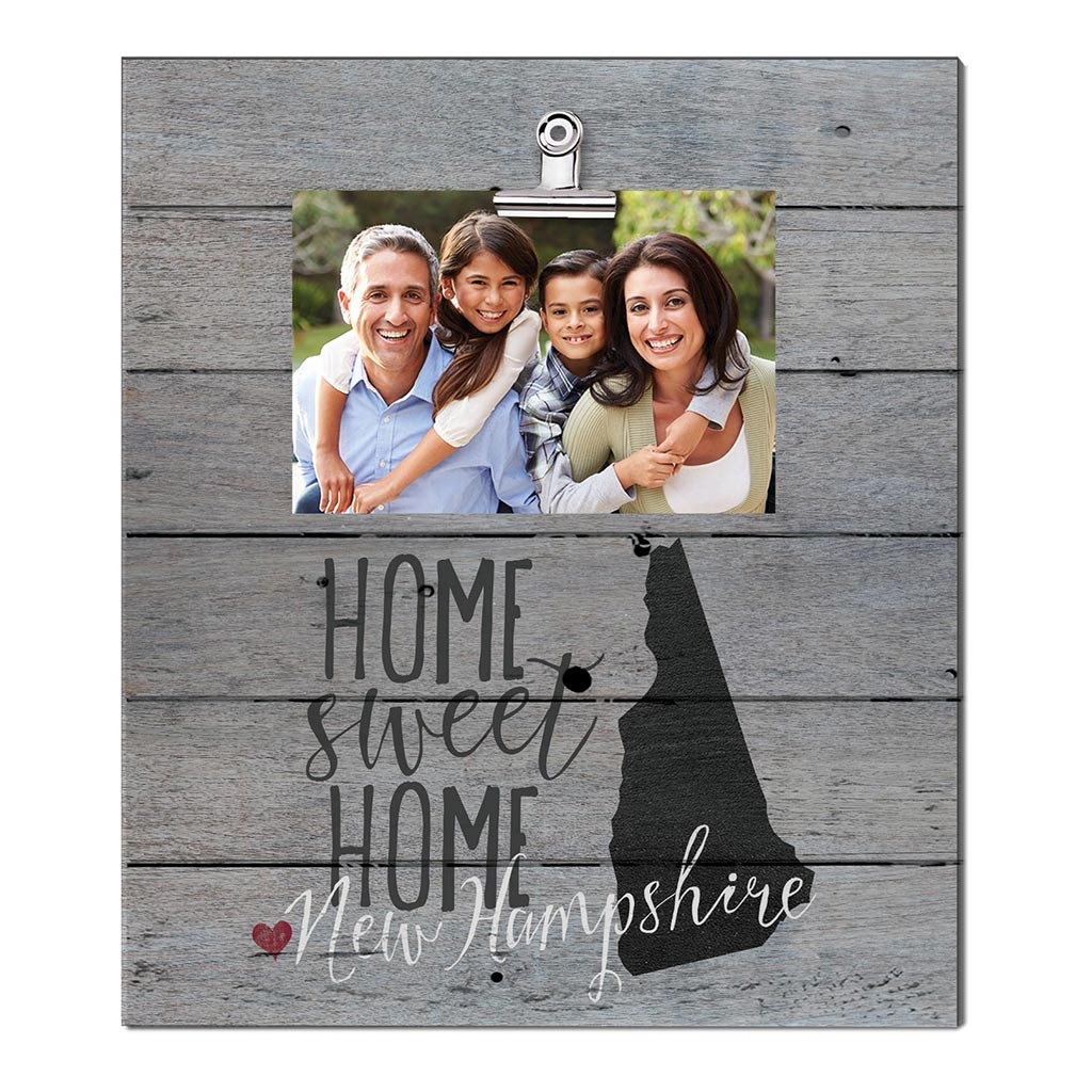 Home Sweet Home New Hampshire Weathered Clip Photo Frame
