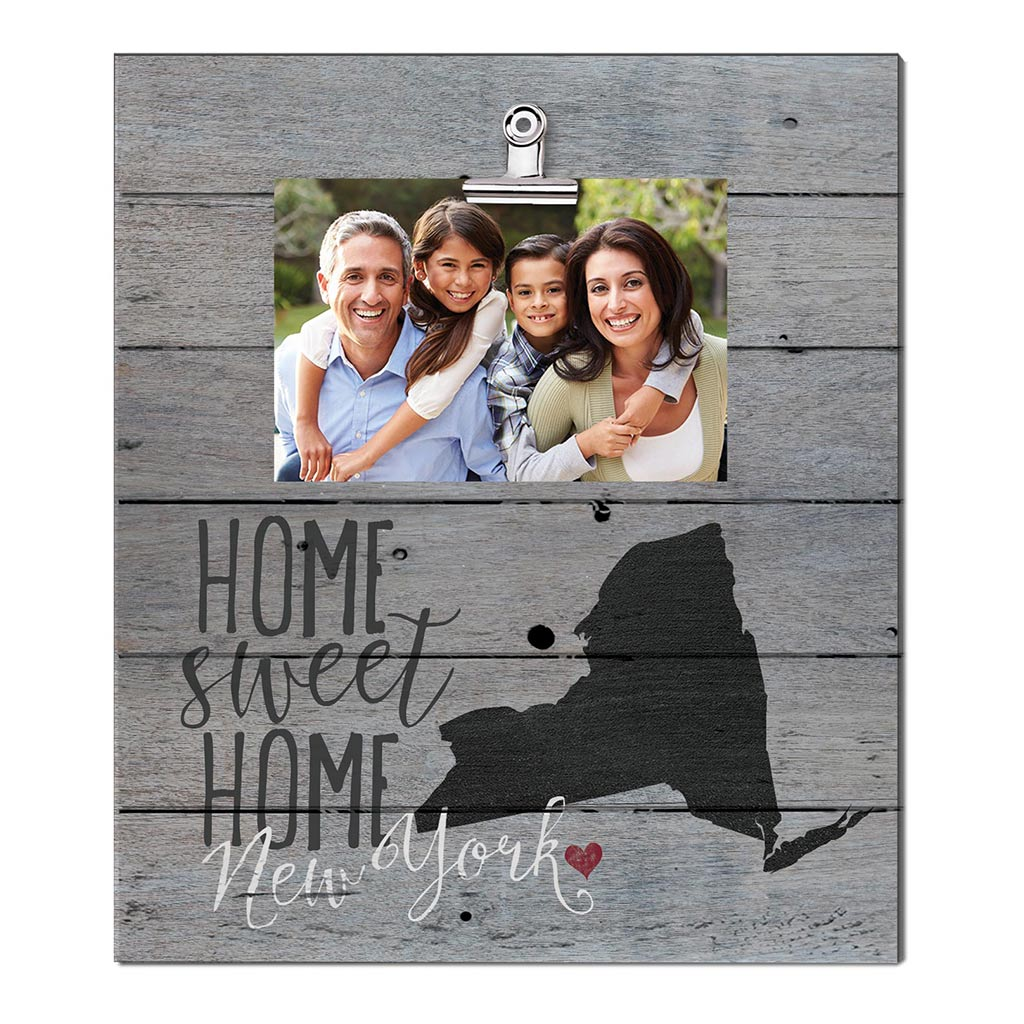Home Sweet Home New York Weathered Clip Photo Frame