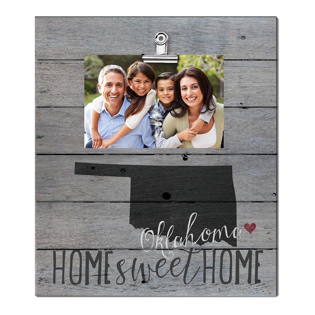 Home Sweet Home Oklahoma Weathered Clip Photo Frame
