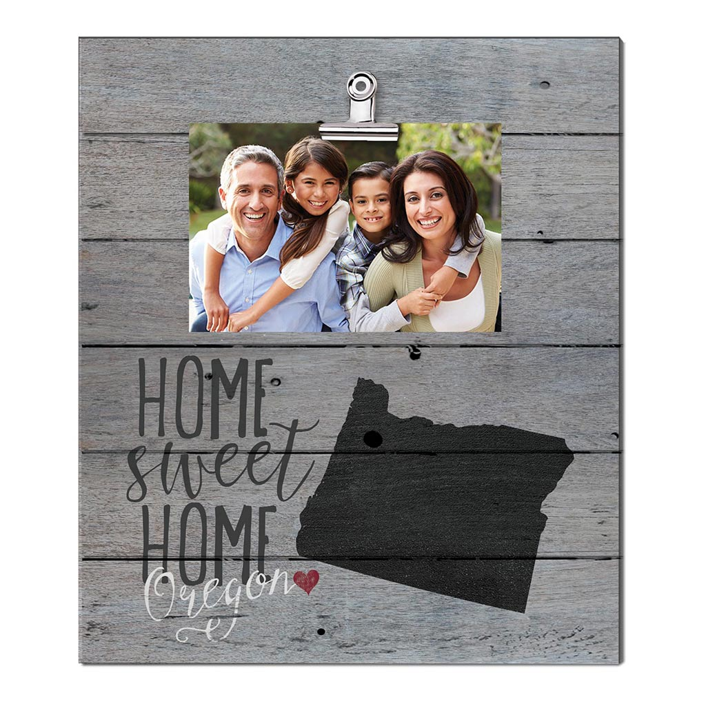 Home Sweet Home Oregon Weathered Clip Photo Frame