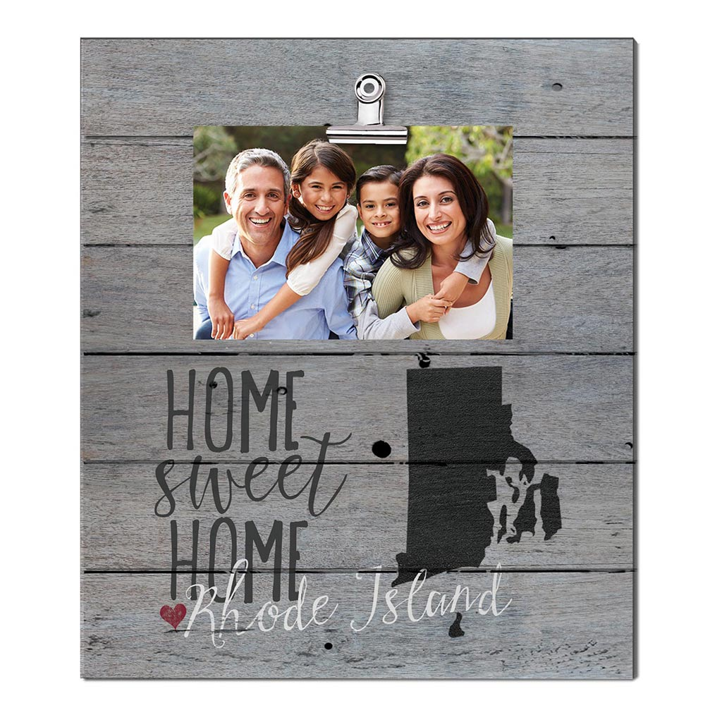 Home Sweet Home Rhode Island Weathered Clip Photo Frame