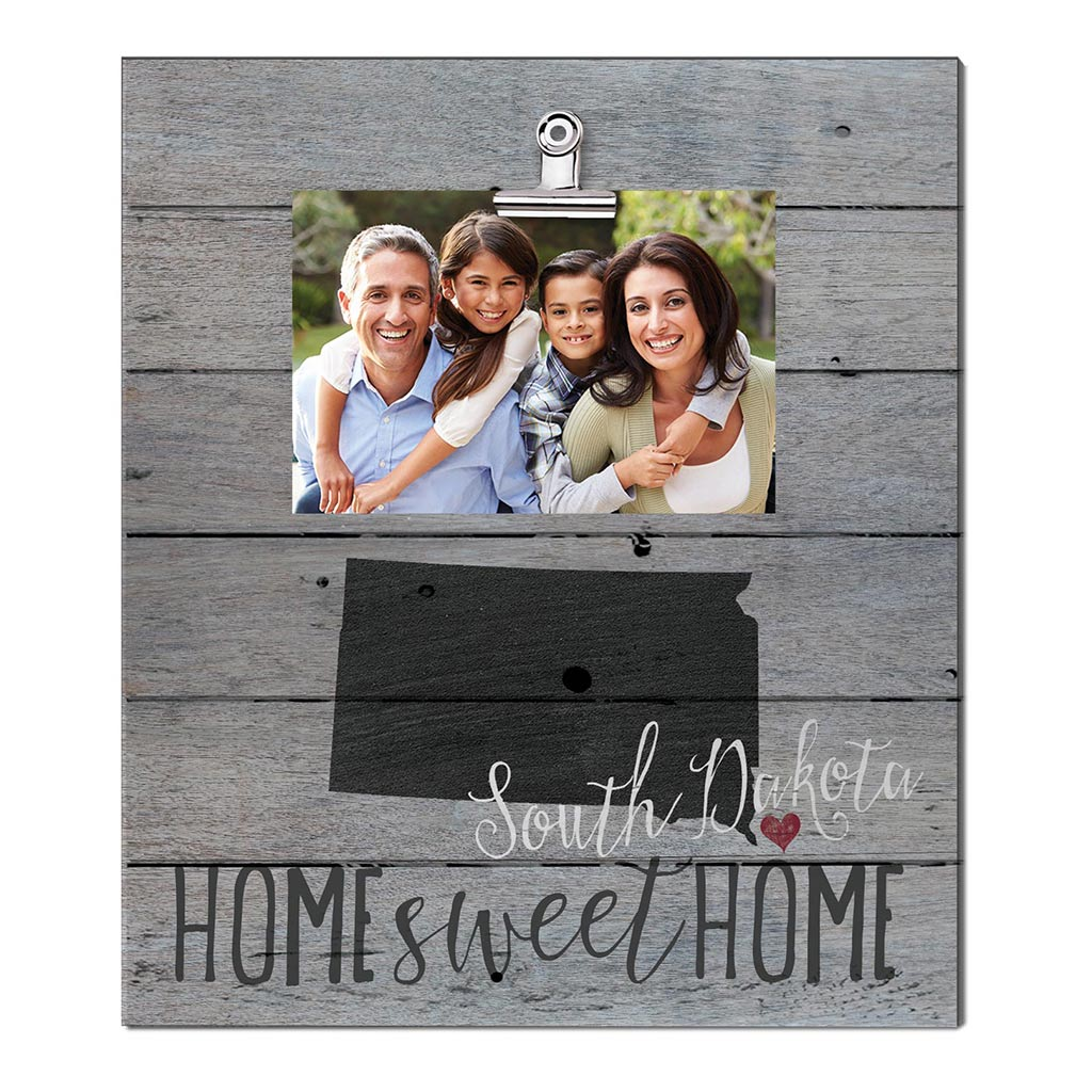 Home Sweet Home South Dakota Weathered Clip Photo Frame