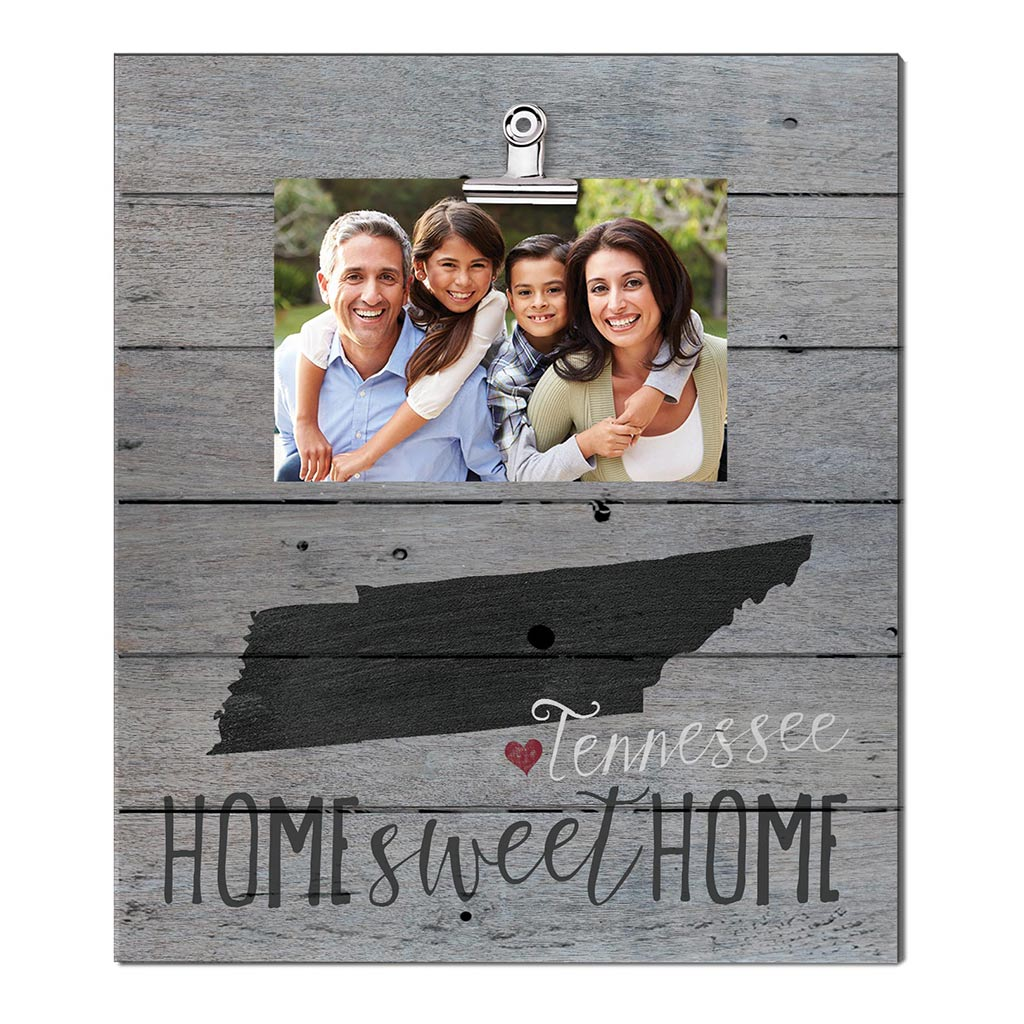 Home Sweet Home Tennessee Weathered Clip Photo Frame