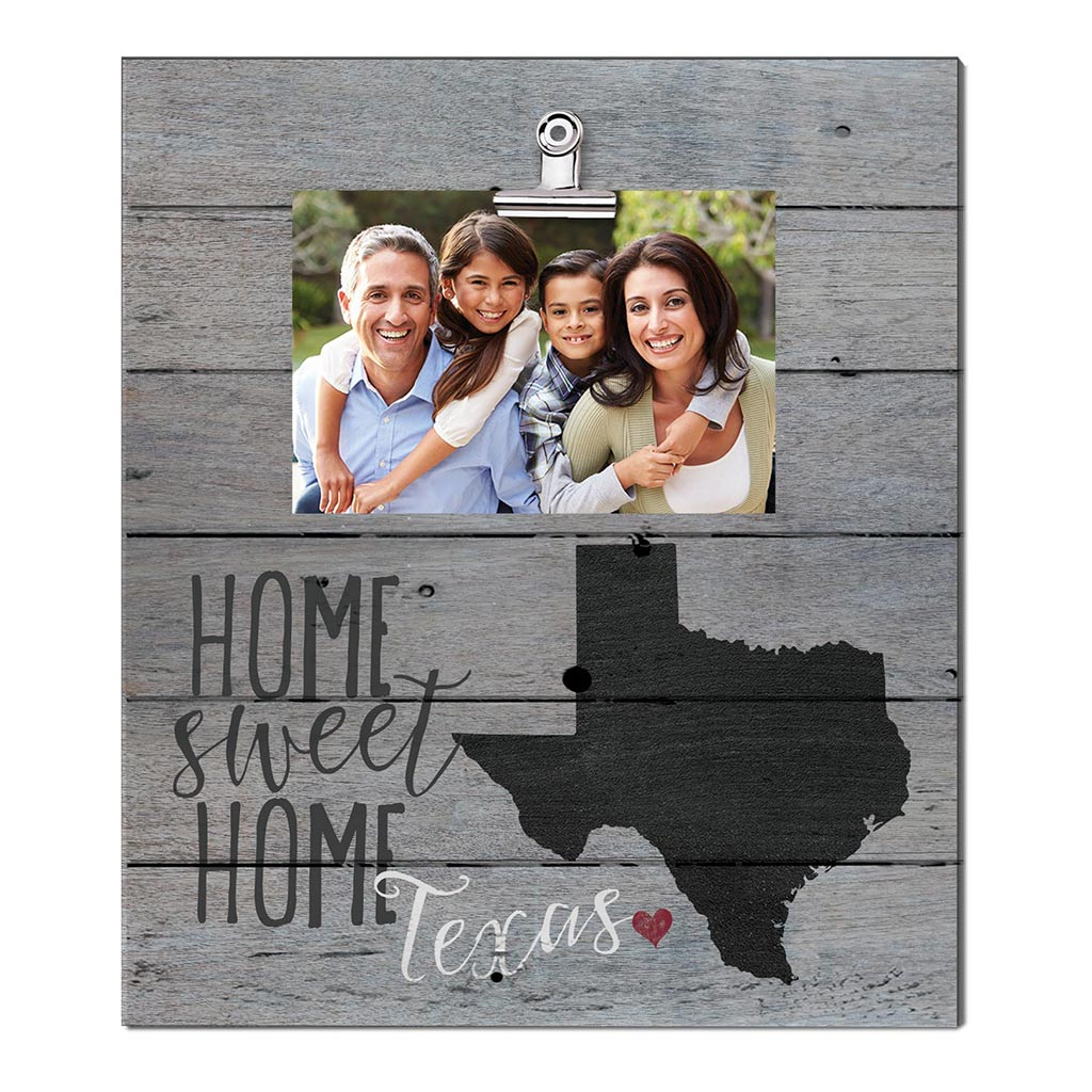 Home Sweet Home Texas Weathered Clip Photo Frame