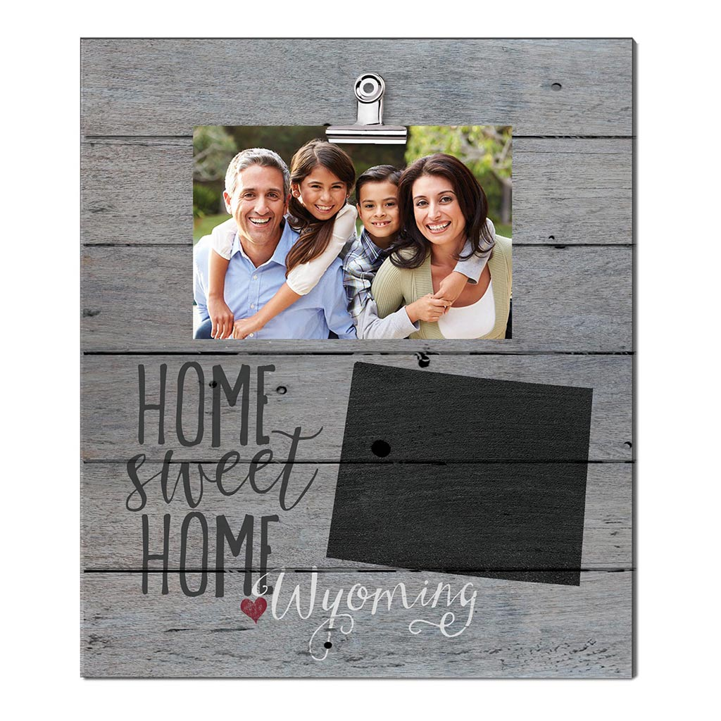 Home Sweet Home Wyoming Weathered Clip Photo Frame