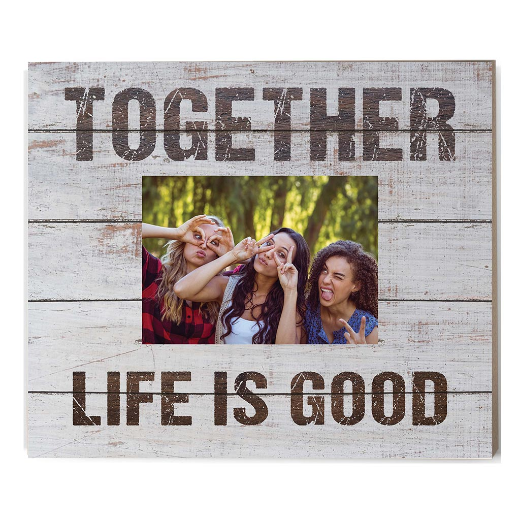 Weathered Whitewash Slat Photo Frame Together