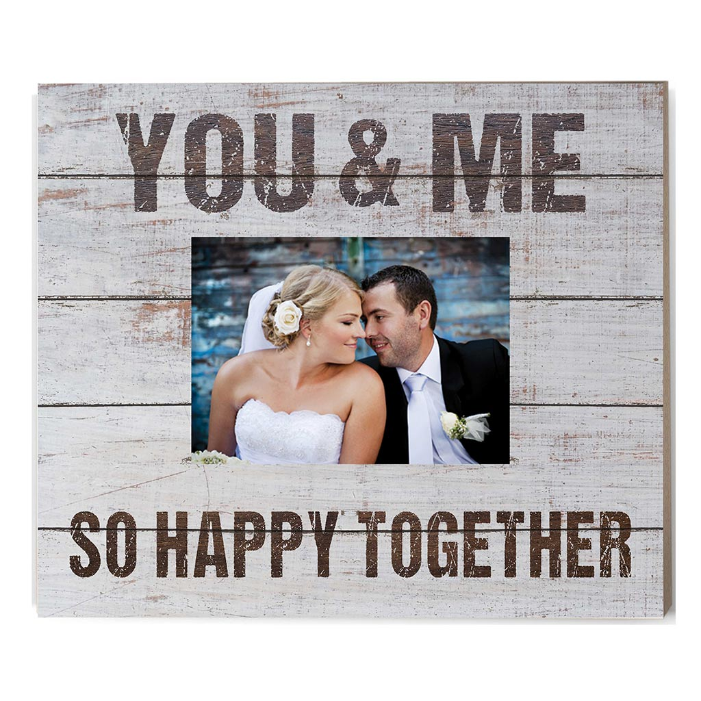 Weathered Whitewash Slat Photo Frame You & Me