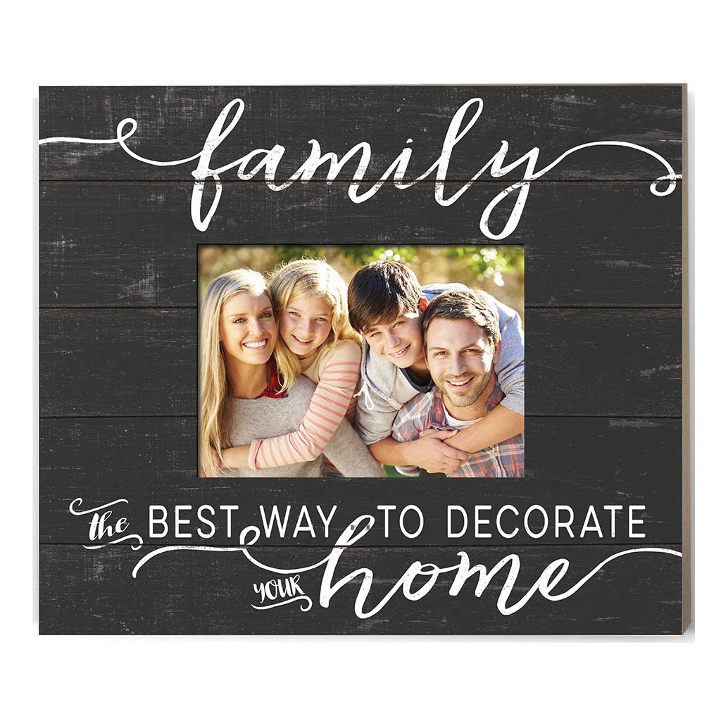 Weathered Charcoal Slat Photo Frame Family Best Way