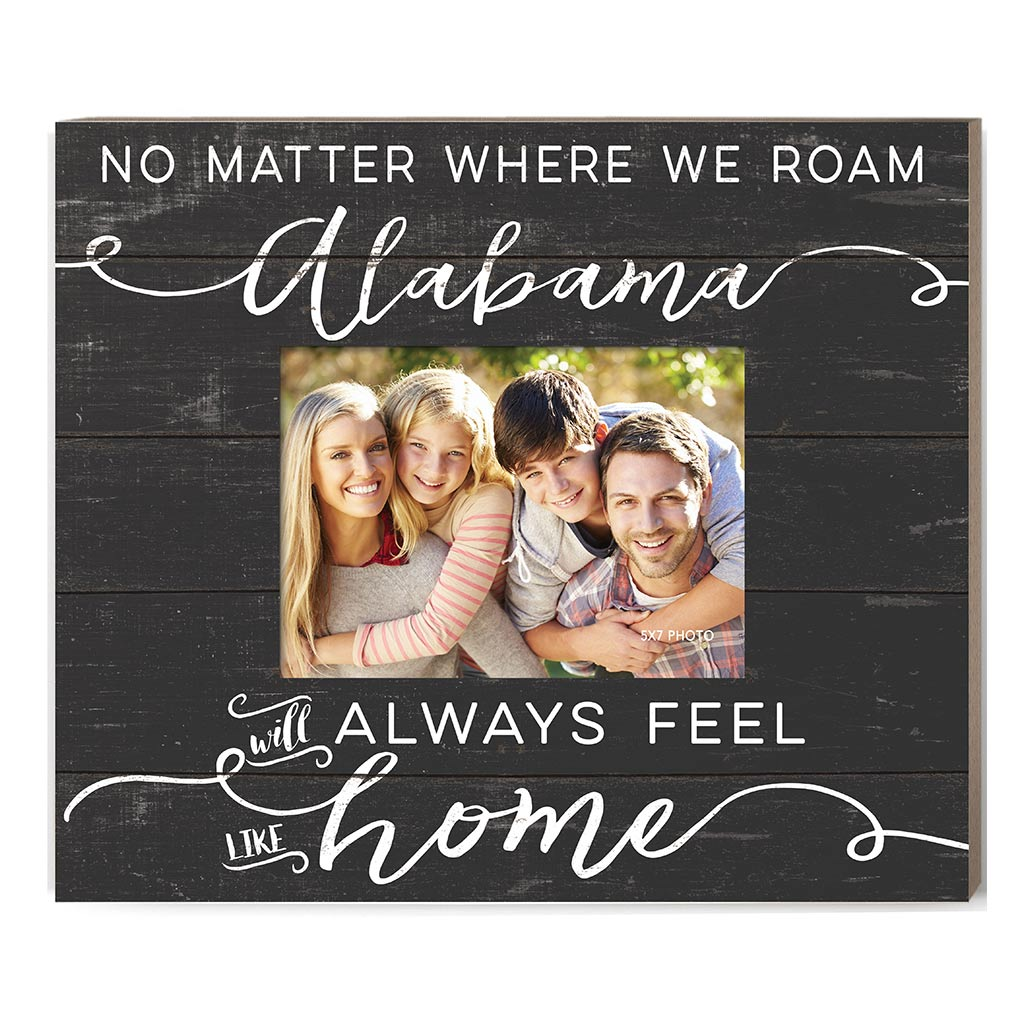 Weathered Charcoal Slat Photo Frame Feels Like Home Alabama