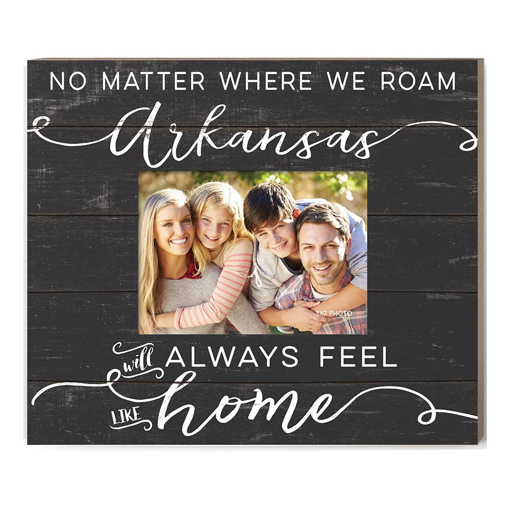 Weathered Charcoal Slat Photo Frame Feels Like Home Arkansas