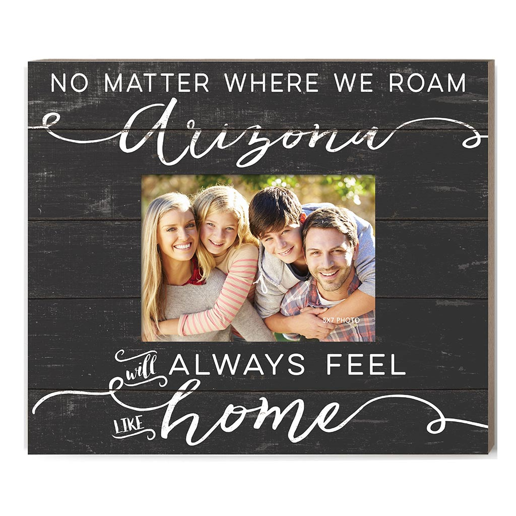Weathered Charcoal Slat Photo Frame Feels Like Home Arizona