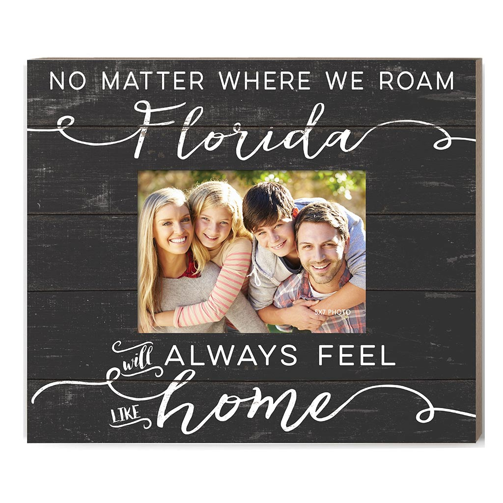 Weathered Charcoal Slat Photo Frame Feels Like Home Florida