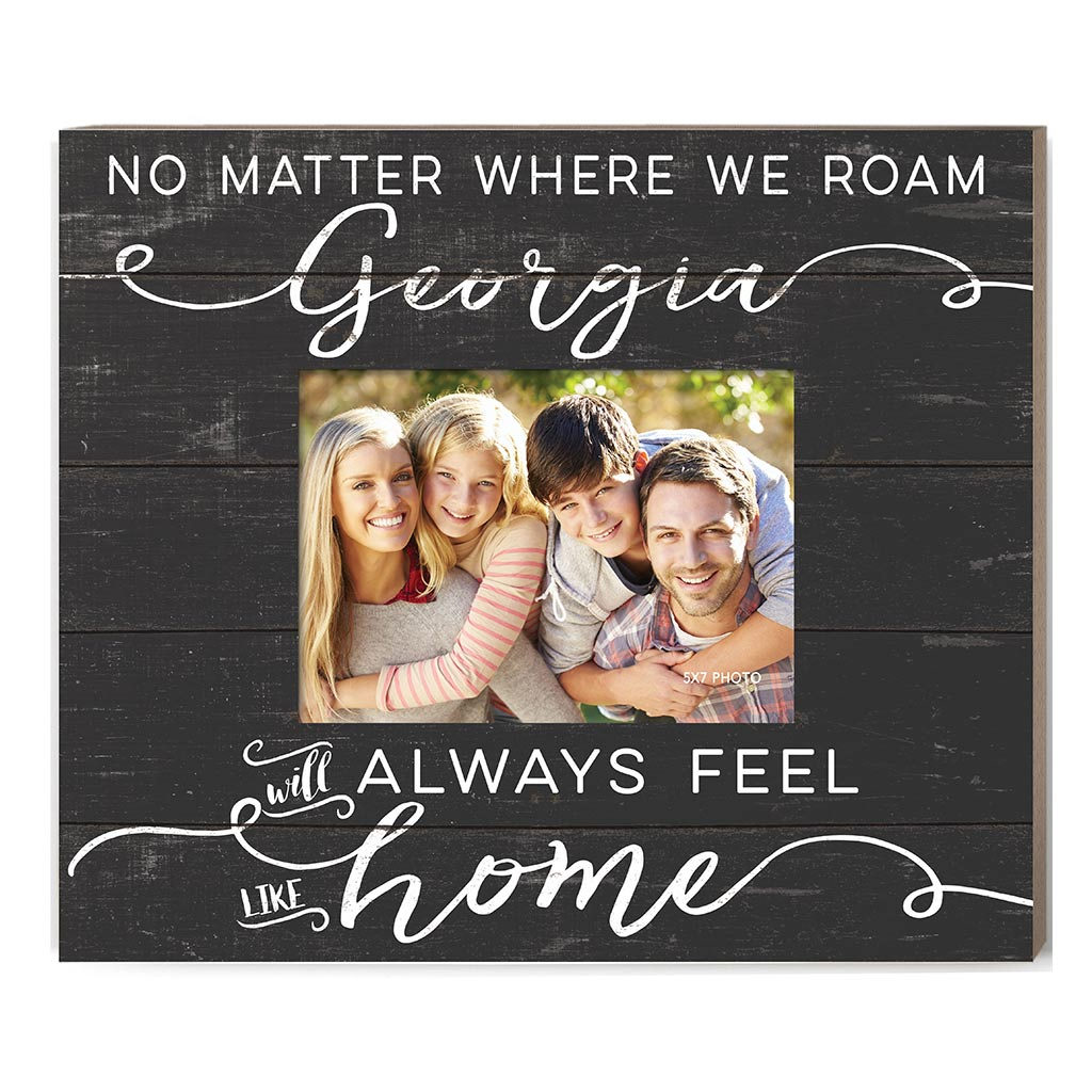 Weathered Charcoal Slat Photo Frame Feels Like Home Georgia