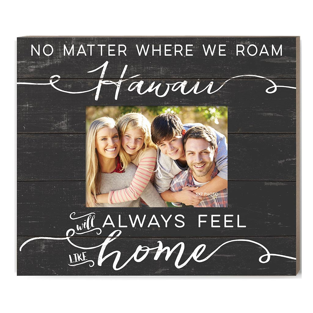 Weathered Charcoal Slat Photo Frame Feels Like Home Hawaii