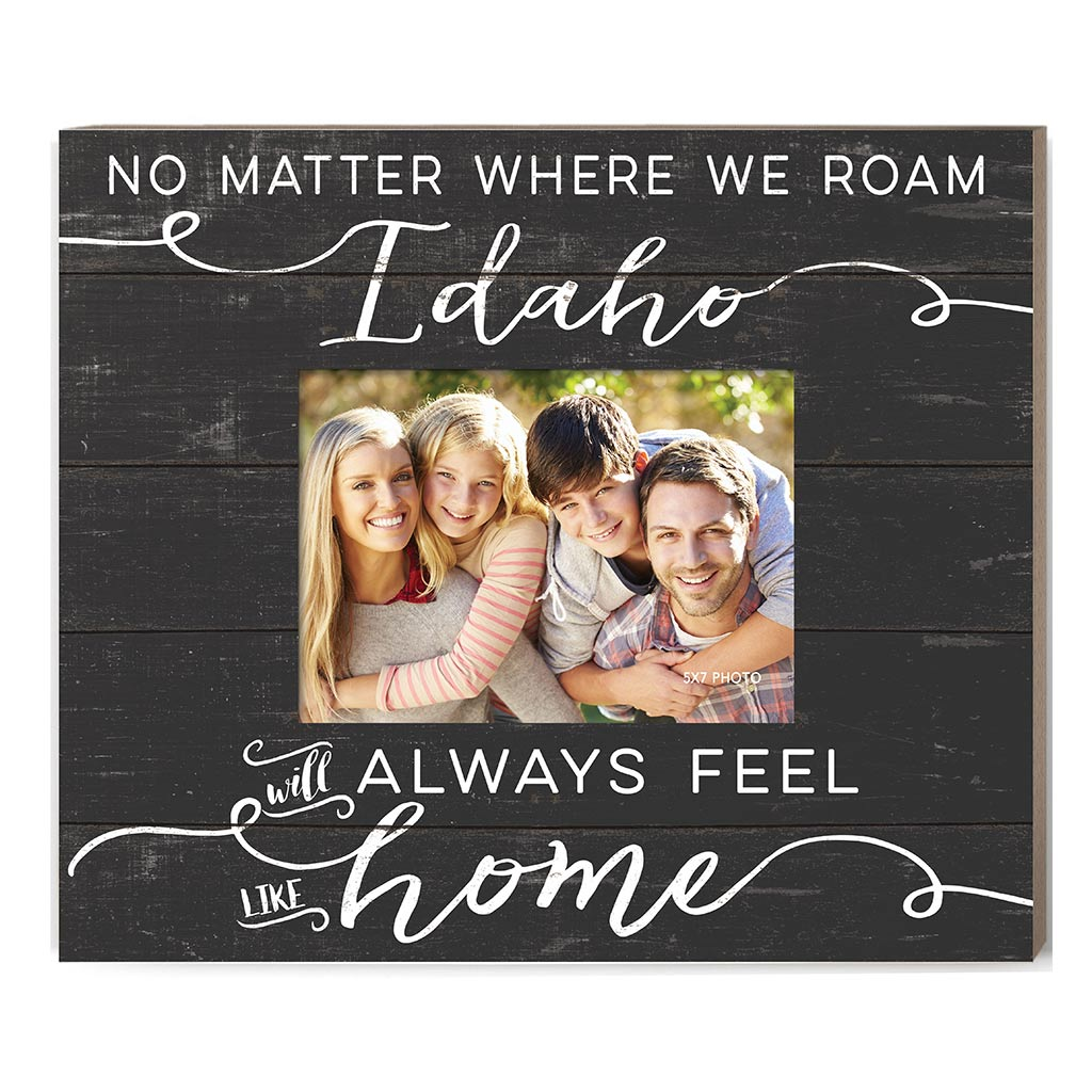 Weathered Charcoal Slat Photo Frame Feels Like Home Idaho