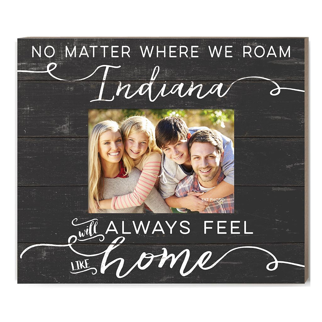 Weathered Charcoal Slat Photo Frame Feels Like Home Indiana