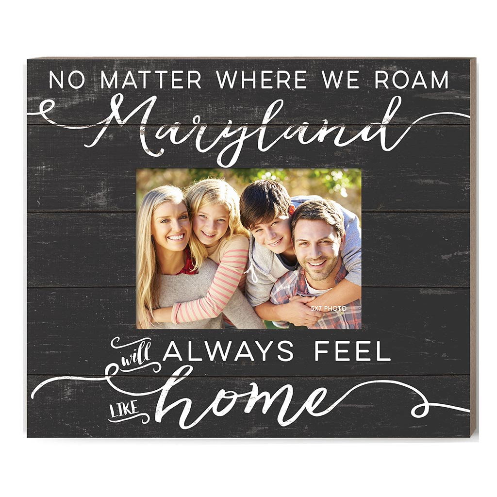 Weathered Charcoal Slat Photo Frame Feels Like Home Maryland