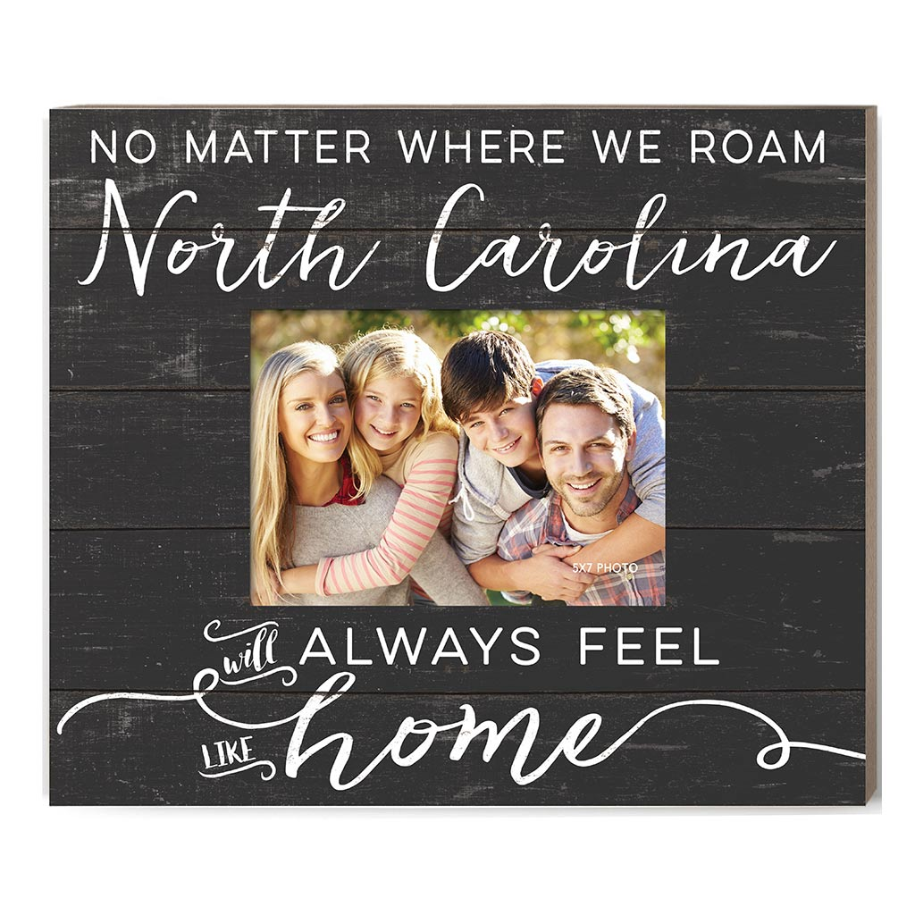 Weathered Charcoal Slat Photo Frame Feels Like Home North Carolina