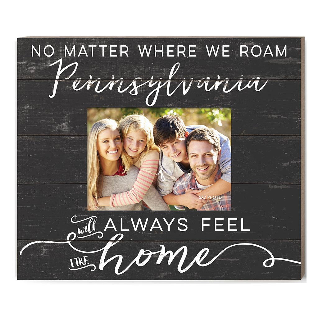 Weathered Charcoal Slat Photo Frame Feels Like Home Pennsylvania