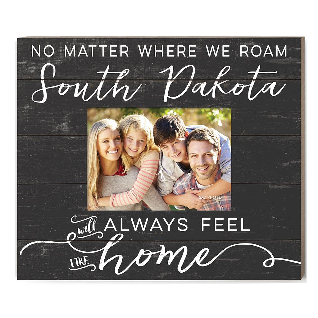 Weathered Charcoal Slat Photo Frame Feels Like Home South Dakota