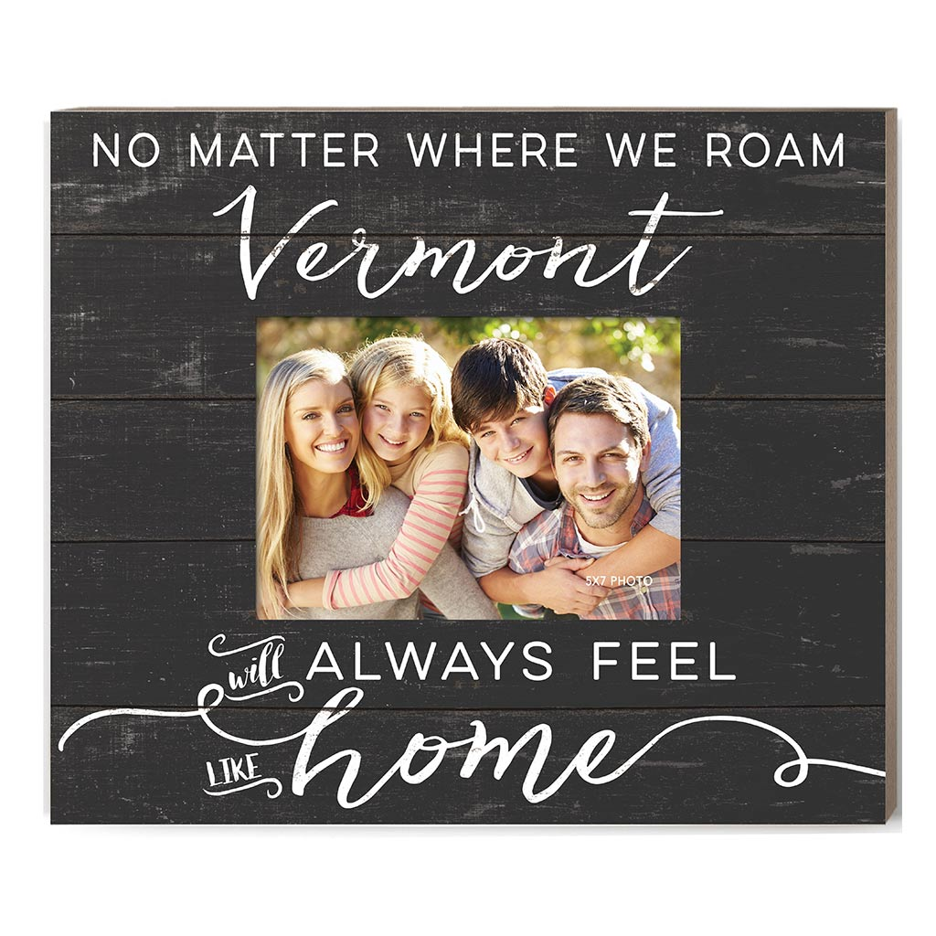 Weathered Charcoal Slat Photo Frame Feels Like Home Vermont