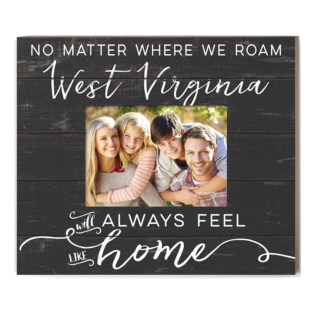 Weathered Charcoal Slat Photo Frame Feels Like Home West Virginia