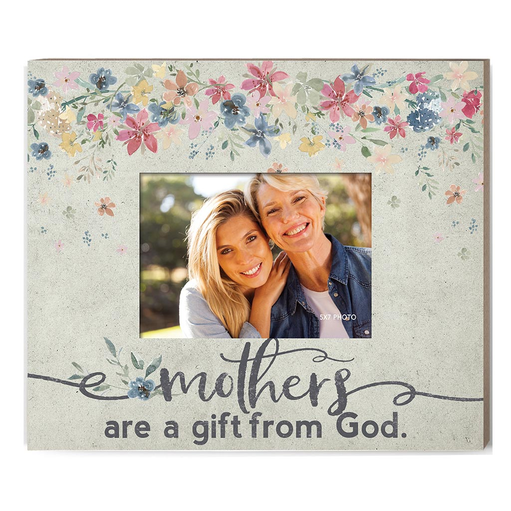 Weathered Floral Photo Frame Mothers are a Gift