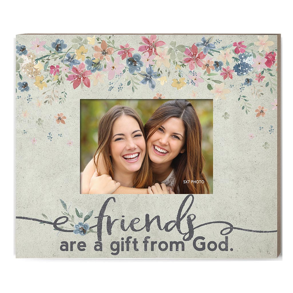 Weathered Floral Photo Frame Friends are a Gift