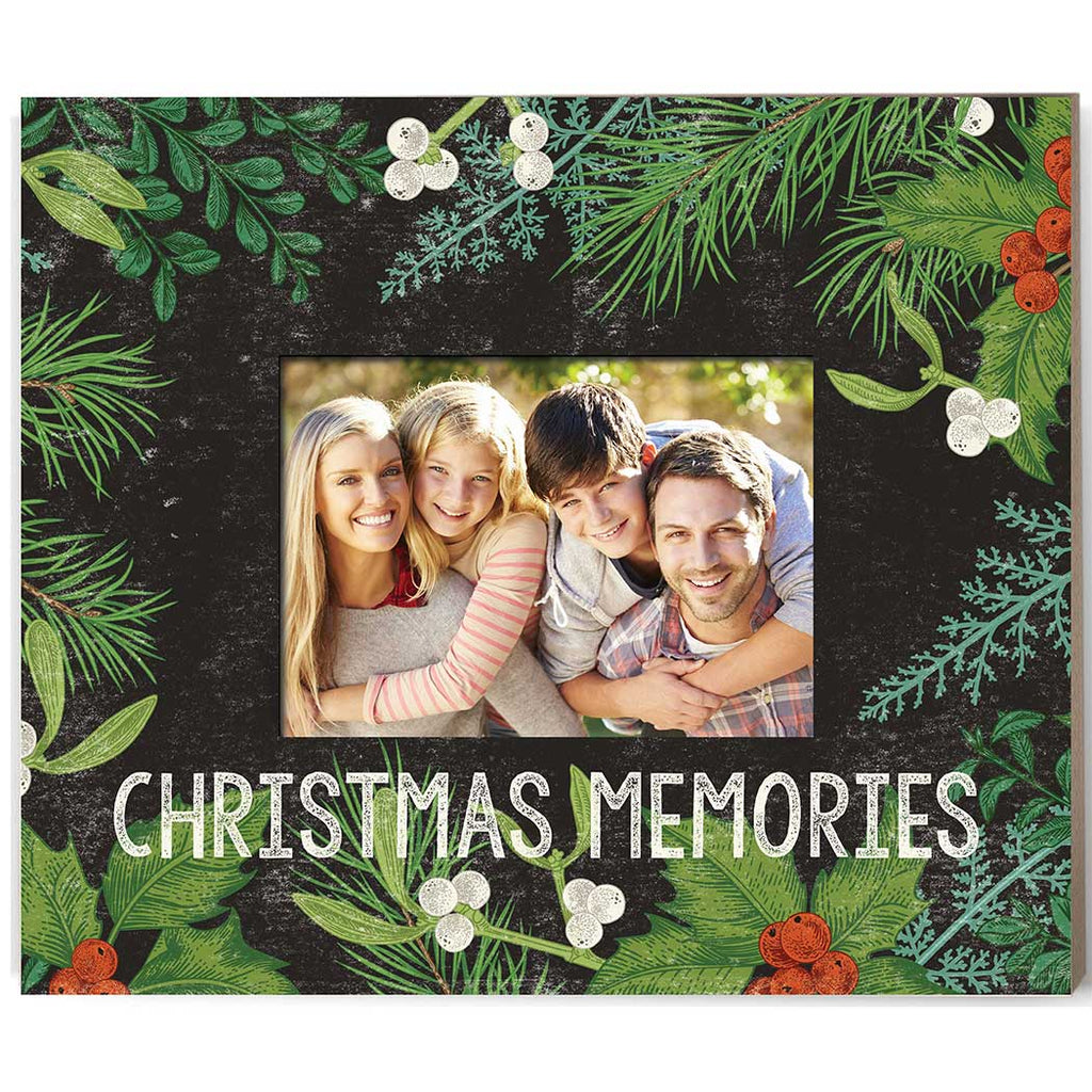 Weathered Charcoal Botanical Photo Frame Christmas Memories
