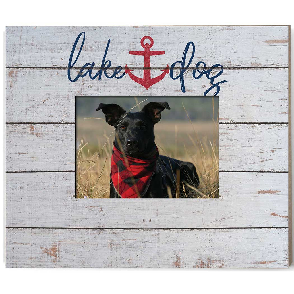 Lake Dog Weathered Photo Frame