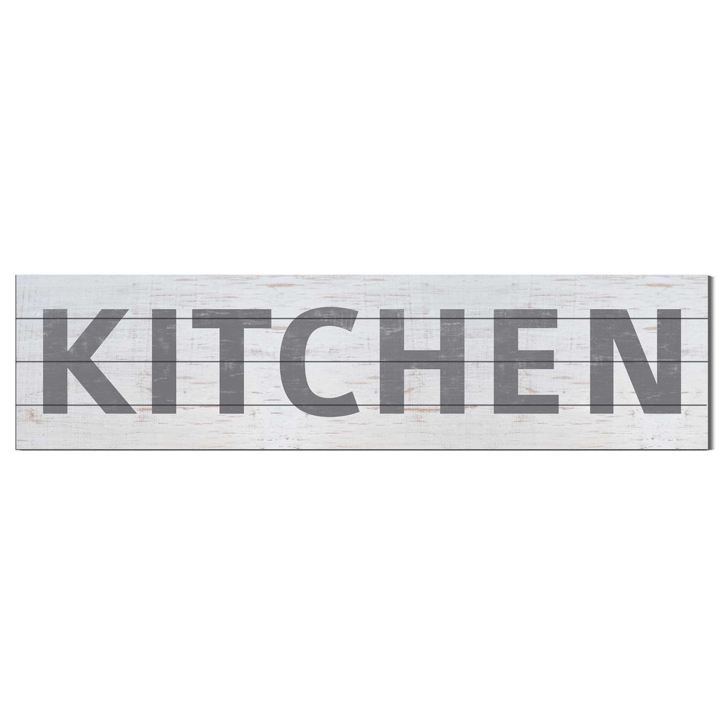 40x10 Whitewash Slat Sign KITCHEN