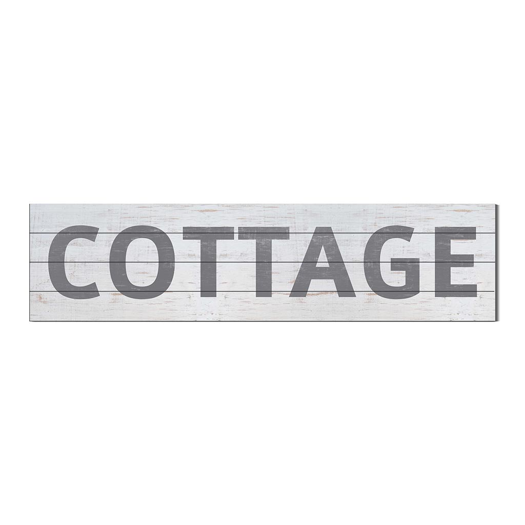 40x10 Whitewash Slat Sign COTTAGE