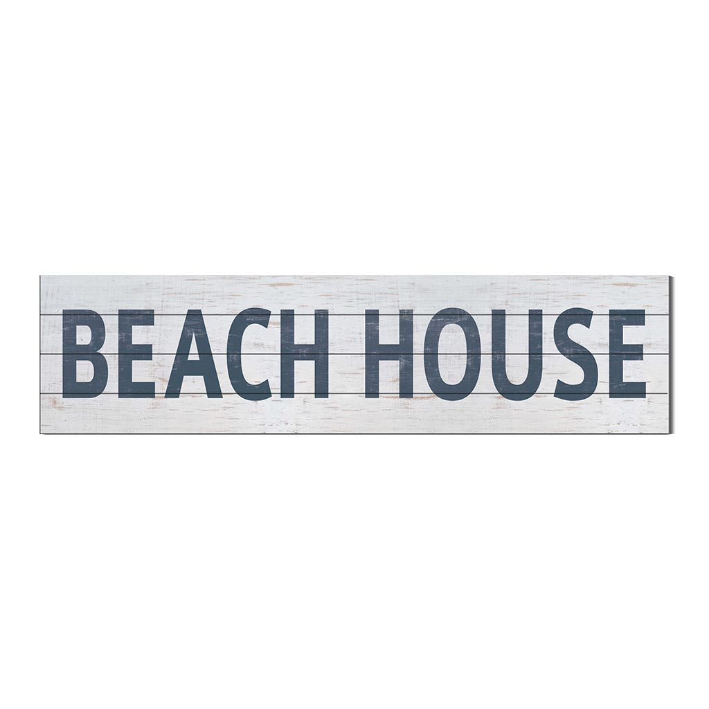 40x10 Whitewash Slat Sign BEACH HOUSE