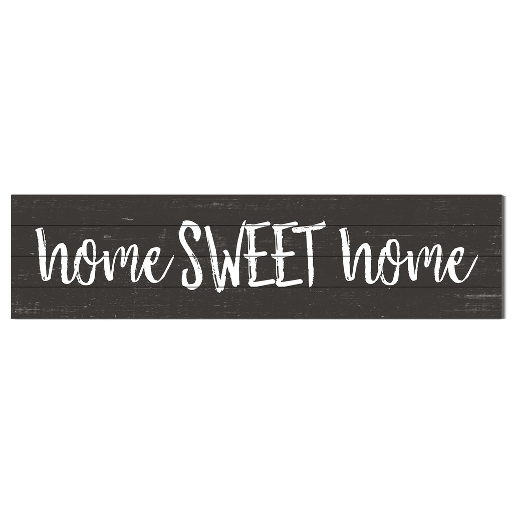 40x10 Weathered Charcoal Sign Home Sweet Home