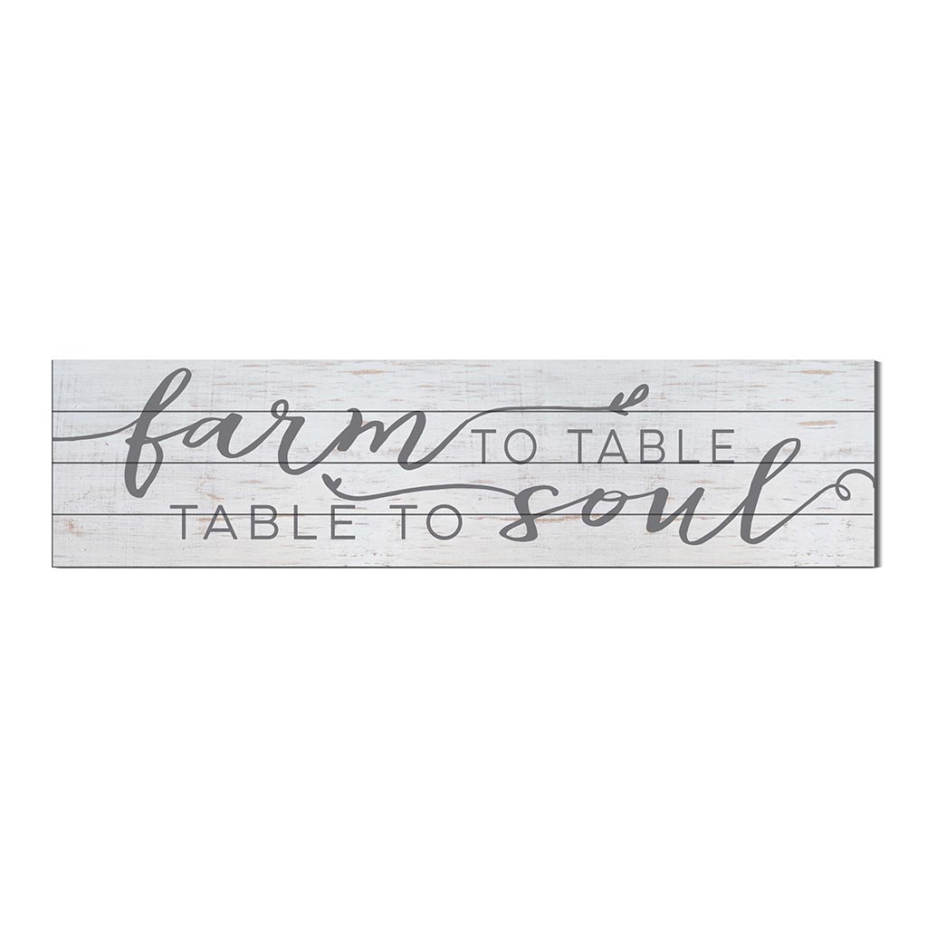 40x10 Whitewash Slat Sign Farm to Table