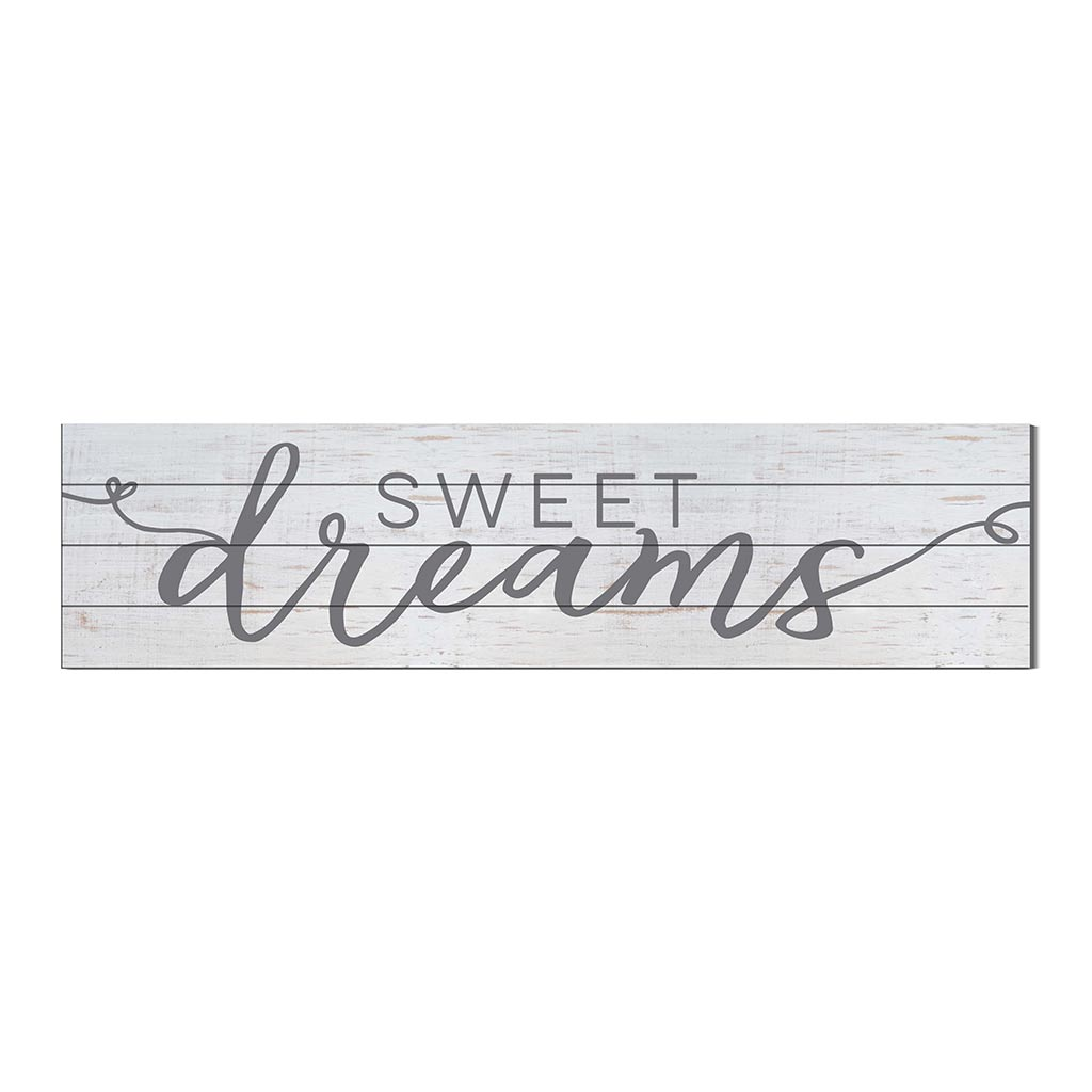 40x10 Whitewash Slat Sign Sweet Dreams
