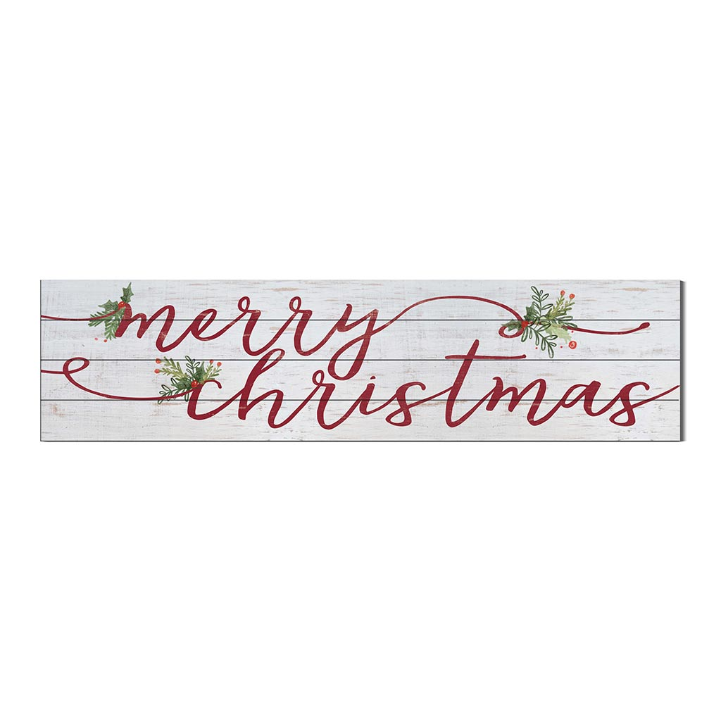 40x10 Whitewash Slat Sign Merry Christmas