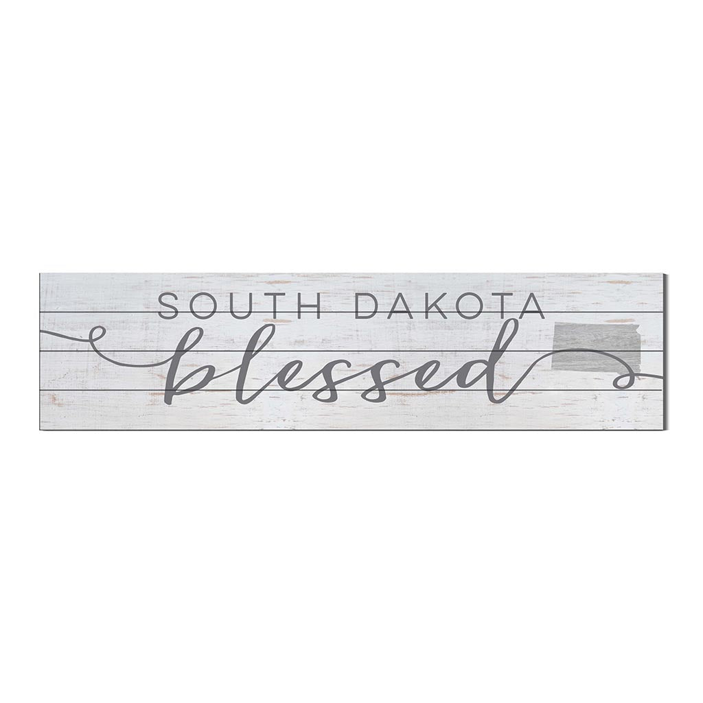 40x10 Whitewash Slat Sign State Blessed South Dakota