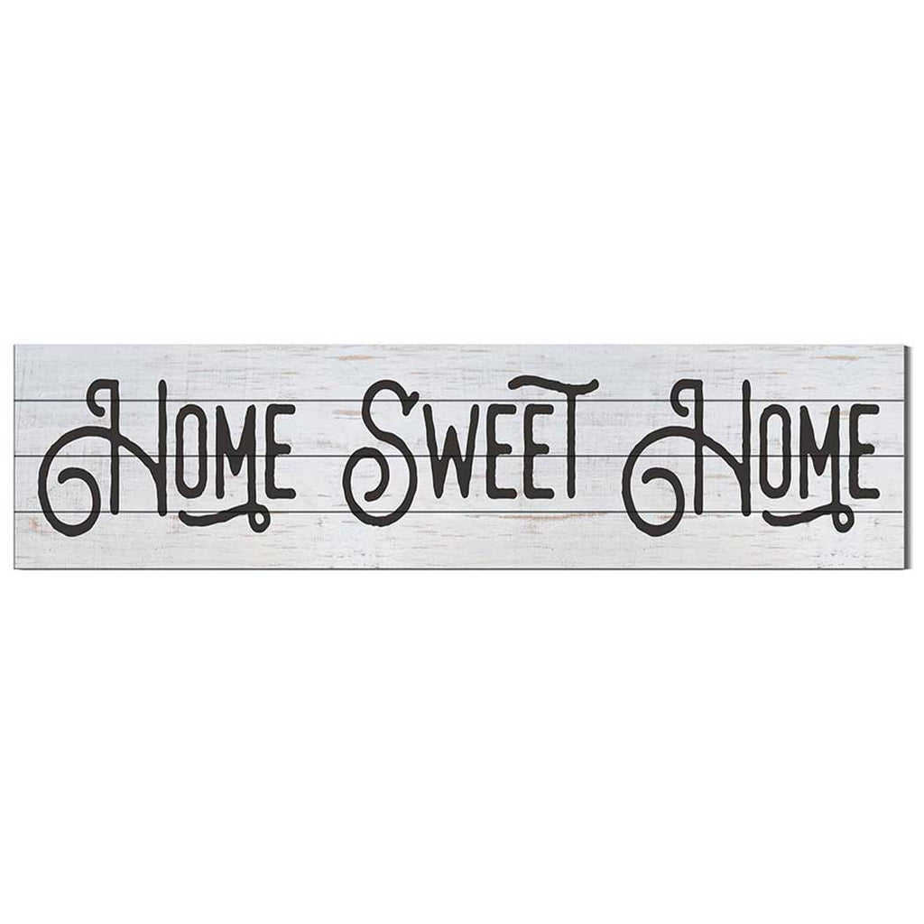 40x10 Whitewash Slat Sign Home Sweet Home