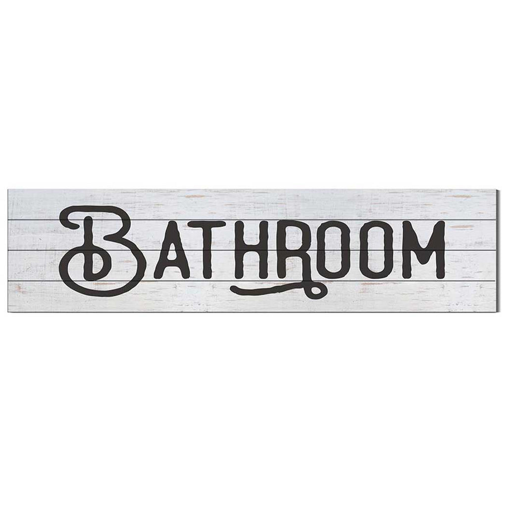 40x10 Whitewash Slat Sign Bathroom