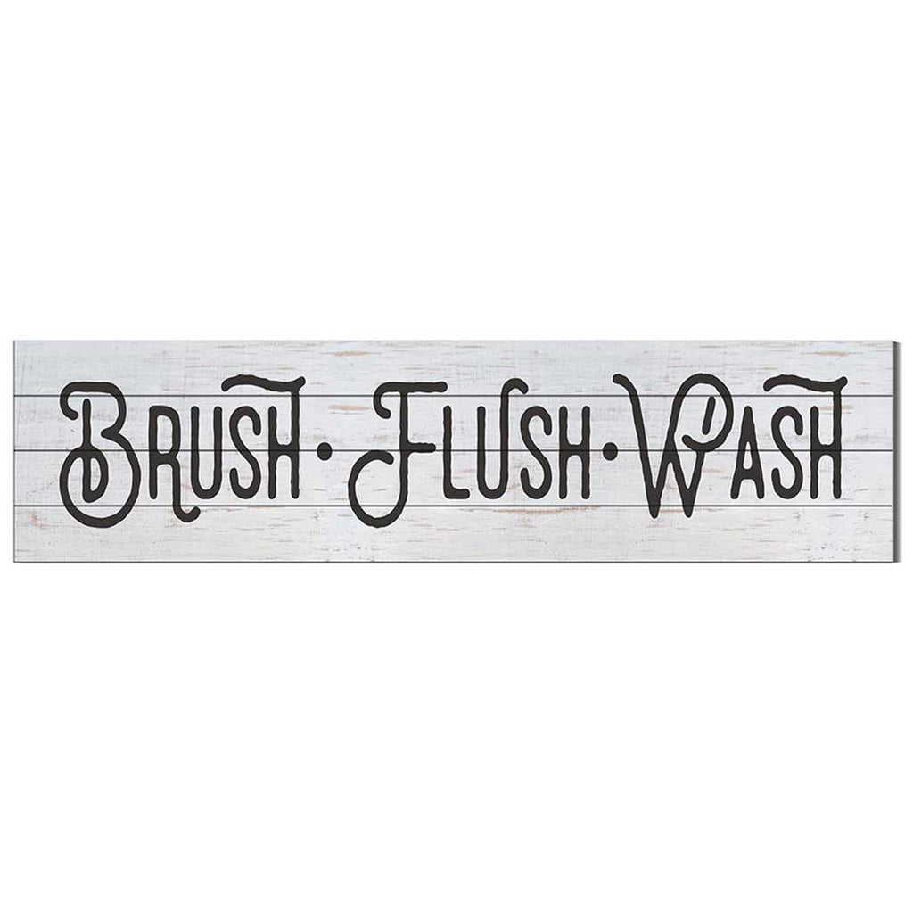 40x10 Whitewash Slat Sign Brush Flush Wash